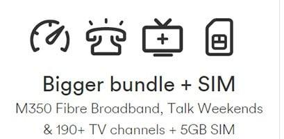 Virgin Media Bigger Bundle plus SIM