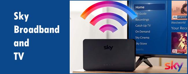 Sky broadband and TV