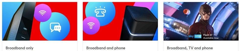 Virgin Media broadband options